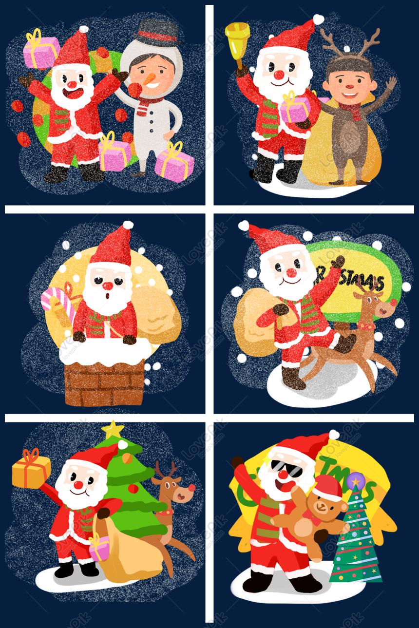Koleksi Ilustrasi Kartun Santa Claus Lucu Natal Gambar Unduh
