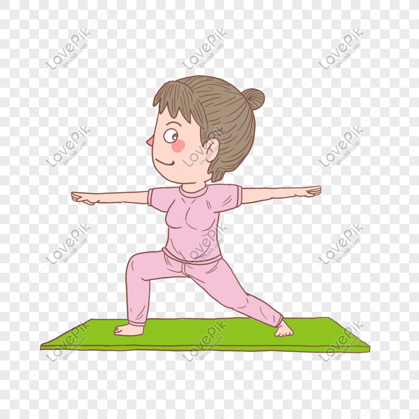 Cartoon Hand Drawn Character Yoga Girl Png Image Picture Free Download 611493811 Lovepik Com