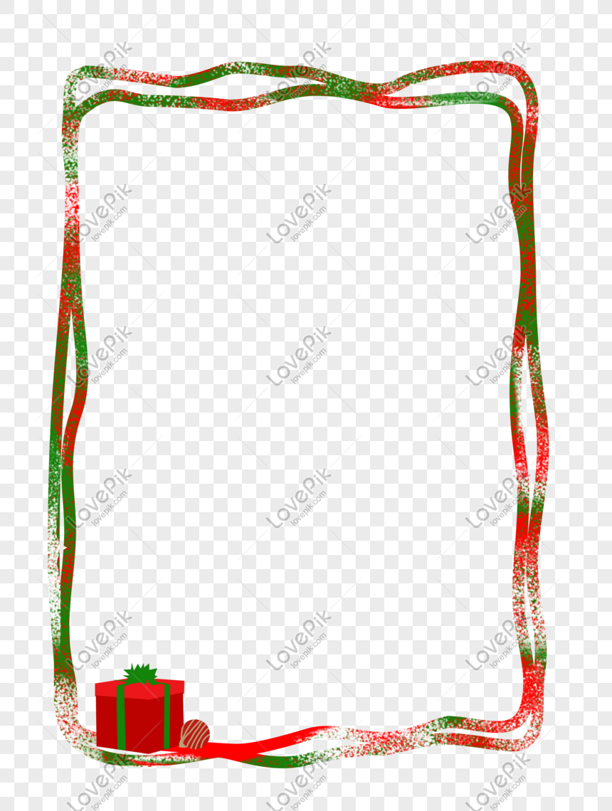 Natal Download Bingkai Png Merah Dan Hijau Gambar Unduh