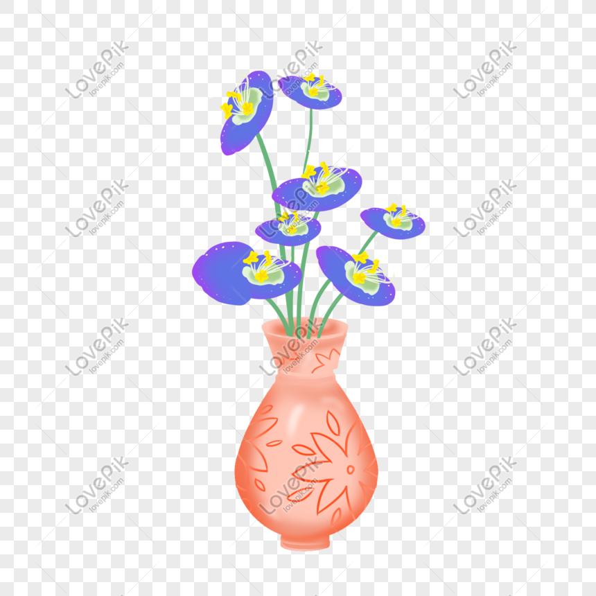 Ilustrasi Vas Bunga Oranye Yang Digambar Tangan Png Grafik Gambar Unduh Gratis Lovepik
