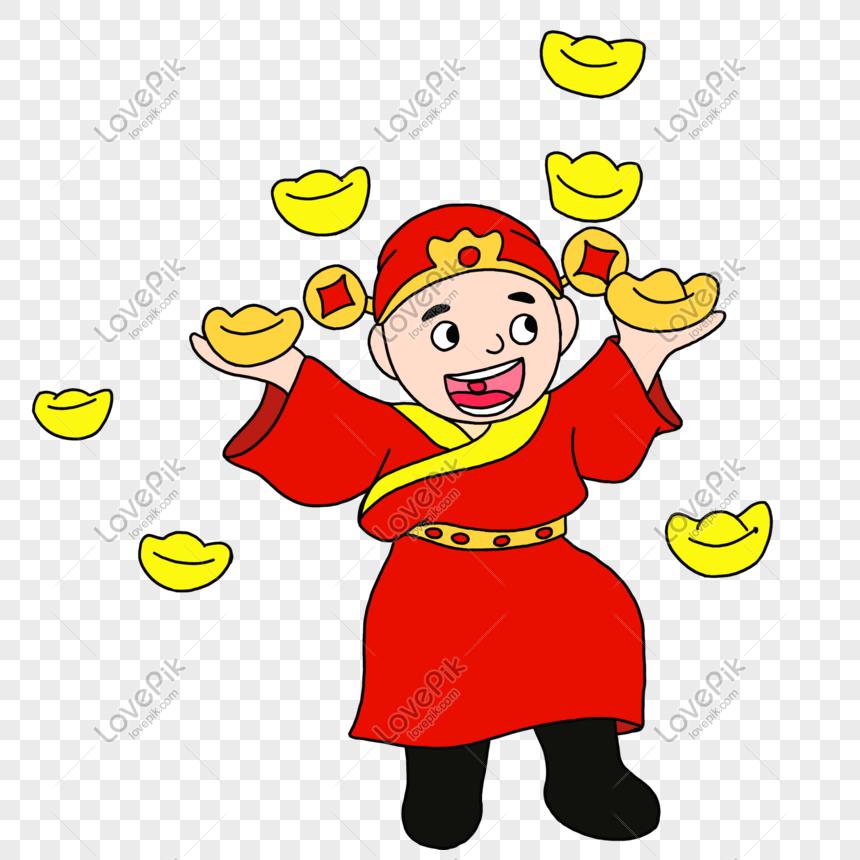 Fortuna Festival Tahun Baru Cina Lukisan Ilustrasi Gaya Q Versi Gambar Unduh Gratis Imej 611481947 Format Psd My Lovepik Com