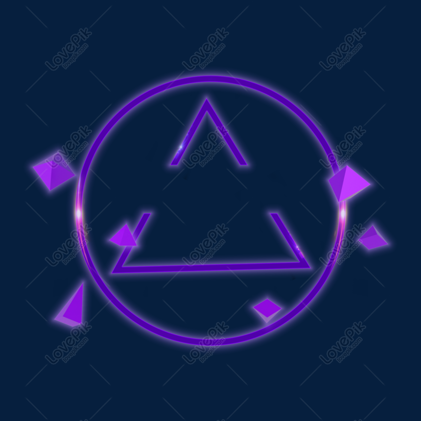 Neon Triangle Png Hd