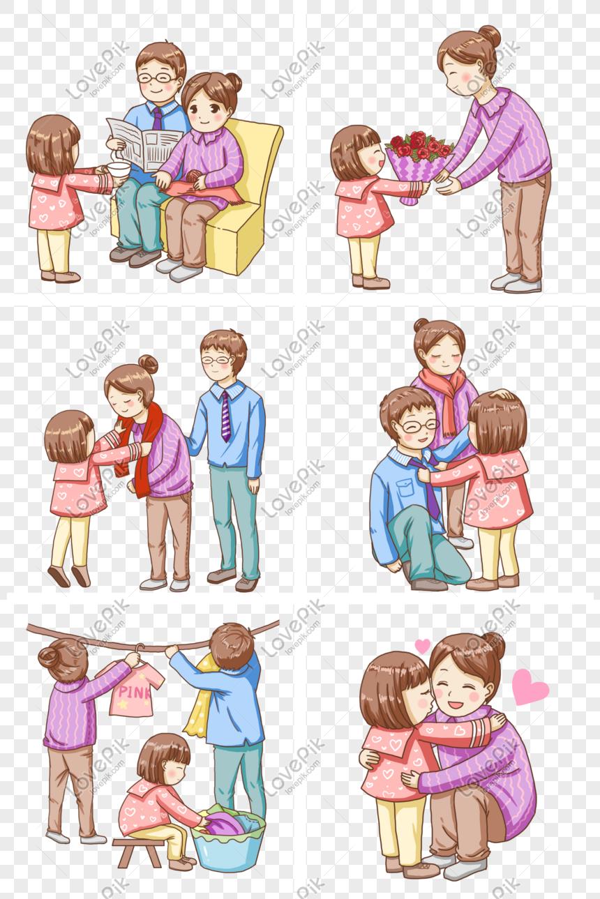 Anak Anak Menghormati Orang Tua Dan Mengirim Bunga Untuk Dicinta