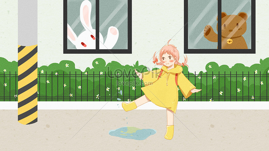 grumpy girl lively and lovely playing street scene png