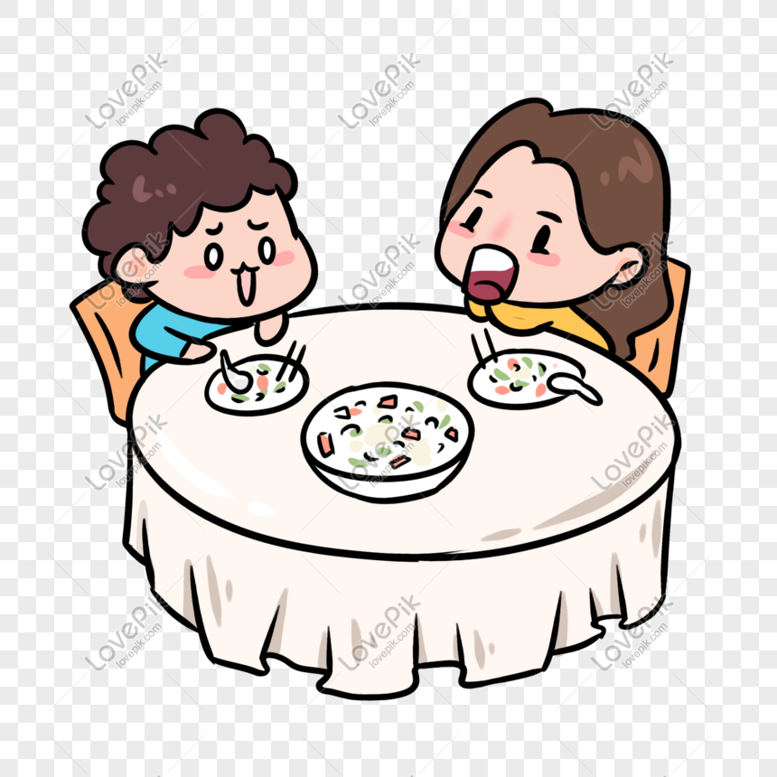 Many Kids Eating In The Canteen Illustration. Royalty Free Cliparts,  Vectors, And Stock Illustration. Image 94430008.