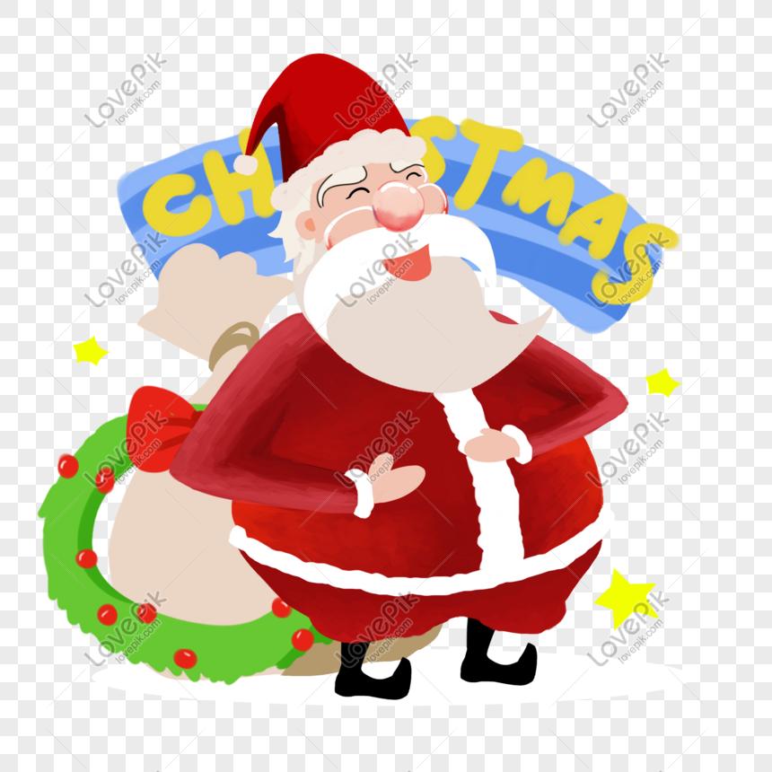 Imagenes De Papa Noel Animado.Papa Noel Pintado A Mano Personaje De Dibujos Animados Png