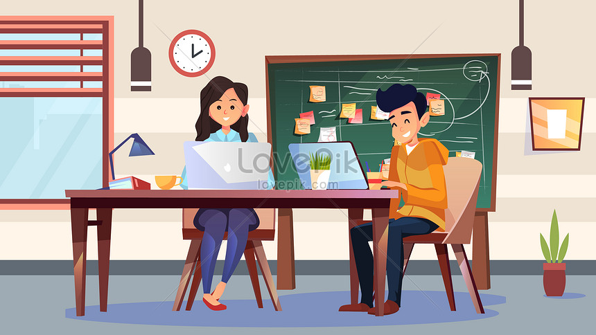 Cartoon Office Worker Work Colleagues Productivity Business Offi Illustration Image Picture Free Download 630018234 Lovepik Com