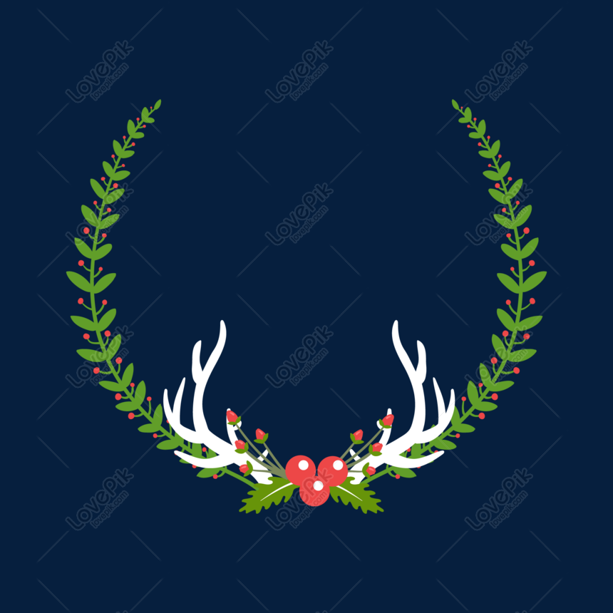 Christmas Border Design Png.Hand Drawn Christmas Green Leaves Border Png Image Picture