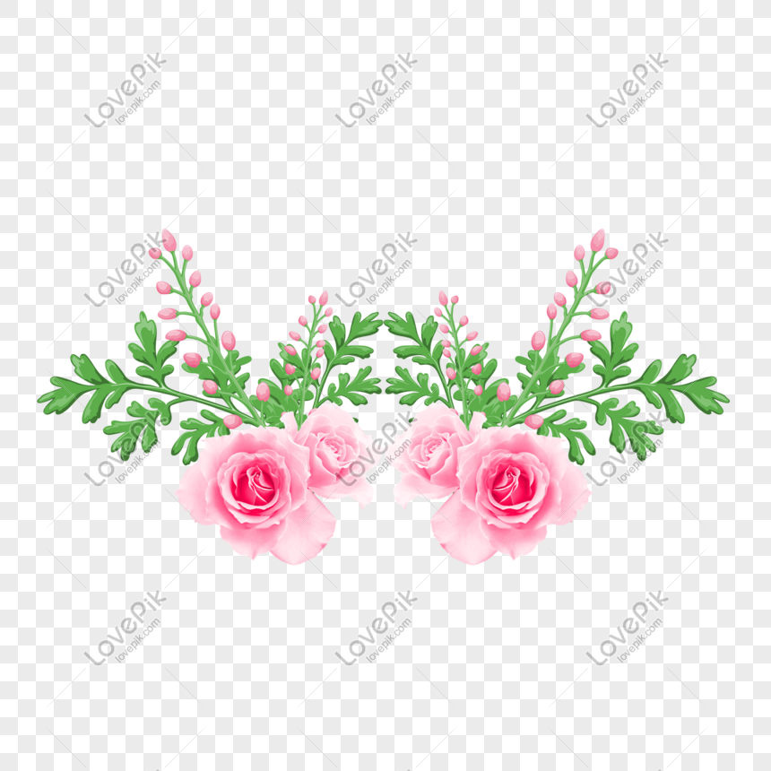 Hand Drawn Cartoon Free Buckle Flower Png Image Picture Free