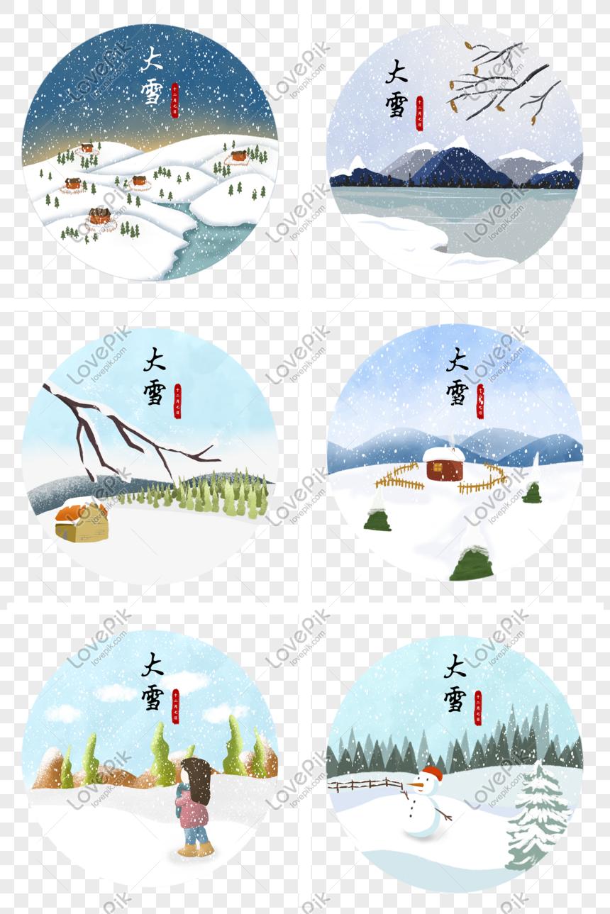 mùa tuyết rơi vẽ tay minh họa phim hoạt hình