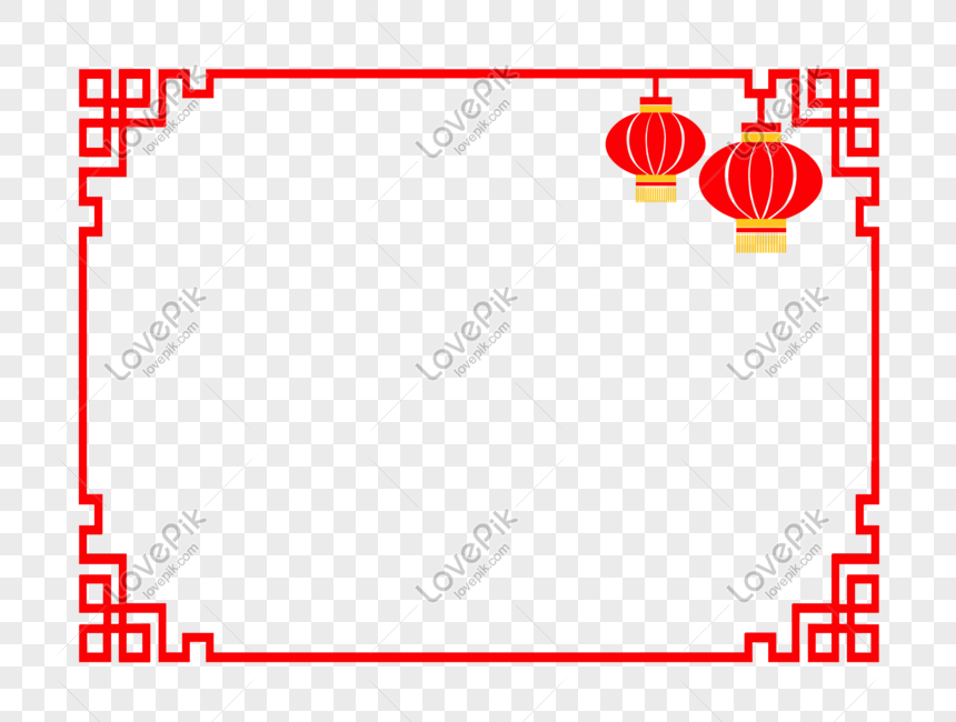 chinese new year lantern border illustration png