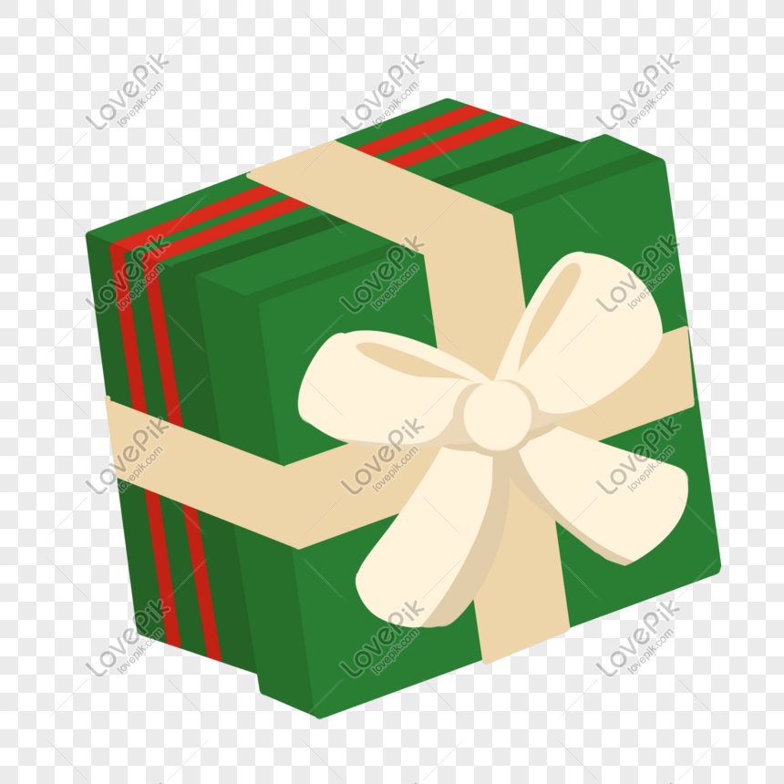 Green Christmas Gift Box Png Image Picture Free Download