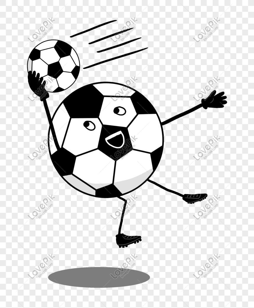 sepak bola hitam putih bermain sepak bola