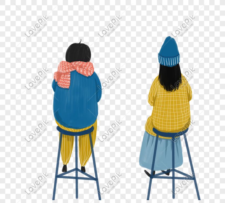 ロマンチックなカップルの後ろ姿小さな新鮮なイラストイメージ グラフィックス Id Prf画像フォーマットpsd Jp Lovepik Com