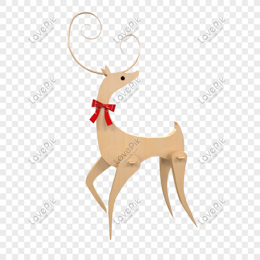 Christmas Reindeer Png.Christmas Flat Wooden Reindeer Png Image Picture Free