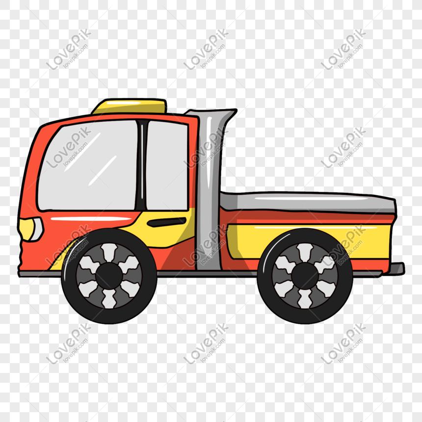 cartoon hand drawn orange dump truck illustration png image picture free download 611522127 lovepik com cartoon hand drawn orange dump truck