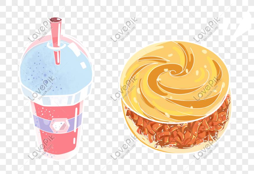 Kartun Tangan Yang Ditarik Tangan Makanan Minuman Patties Gambar