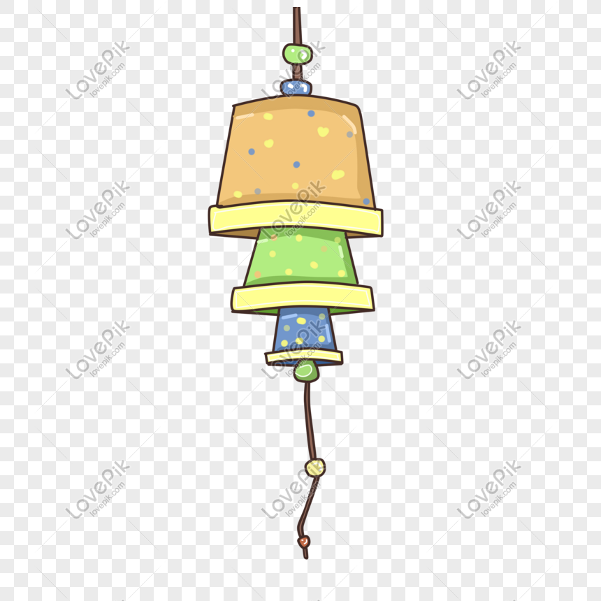 creative toy wind chime illustration png