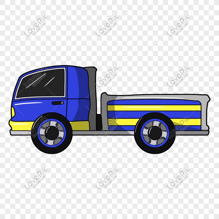 Photo De Illustration De Dessin Animé De Camion Bleu Numéro
