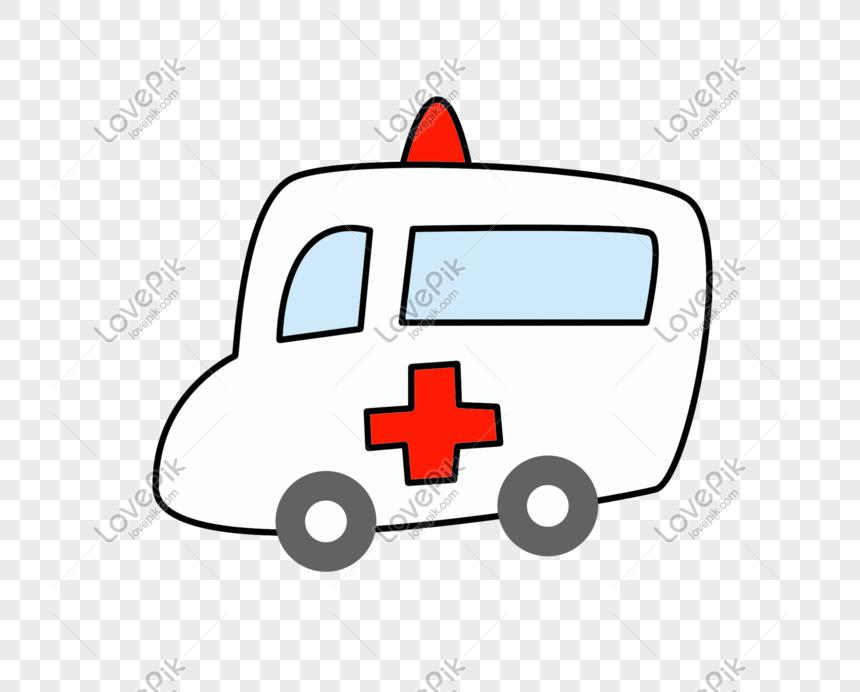 Lovepik صورة Psd 611547418 Id الرسومات بحث صور رسم كاريكتوري أبيض سيارة إسعاف تصوير
