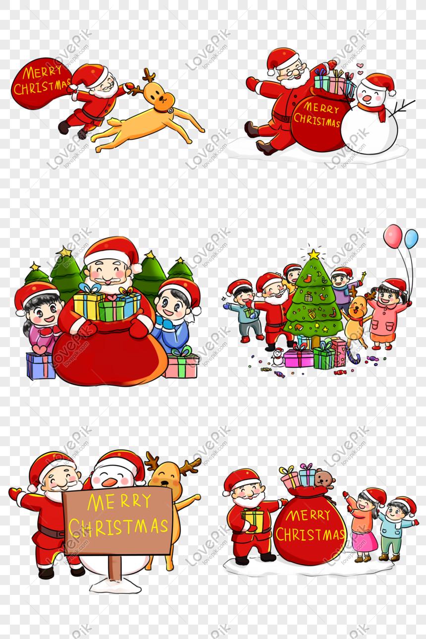 Sambutan Krismas Krismas Siri Kartun Hand Painted Q Koleksi