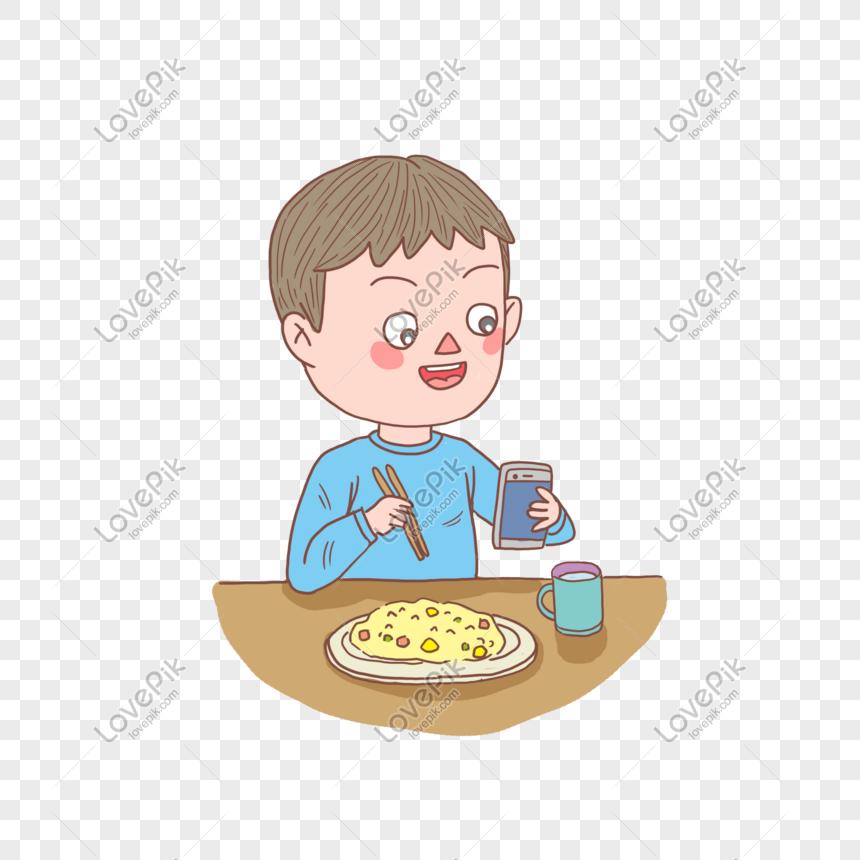 Anak Anak Kartun Ditarik Watak Setiap Hari Makan Nasi Goreng Tel