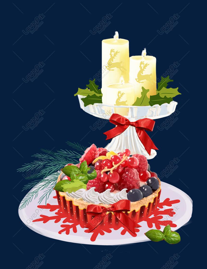 Krismas Kek Lukisan Kartun Cantik Gambar Unduh Gratis Imej 611555193 Format Psd My Lovepik Com