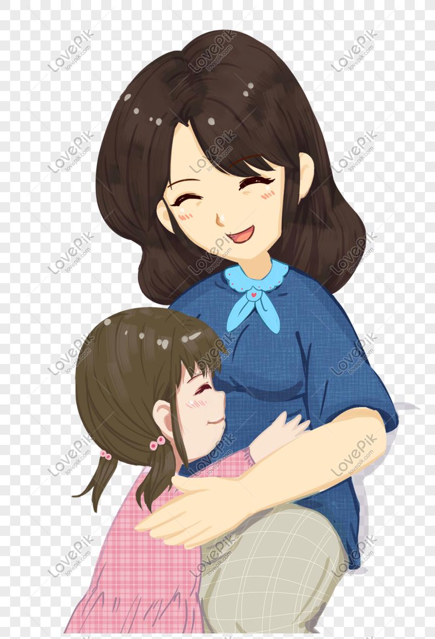 Ilustrasi Kartun Tema Ibu Bapa Dan Anak Yang Hangat Gambar