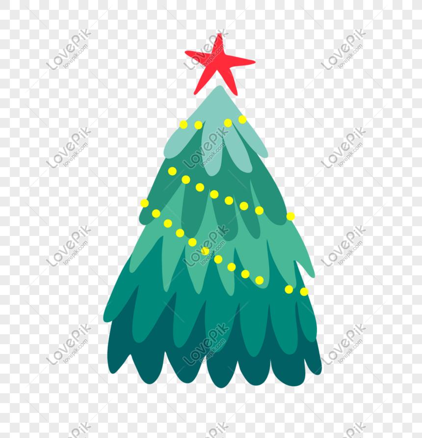 Christmas Tree Star Lights Christmas Eve Decoration Pine Png