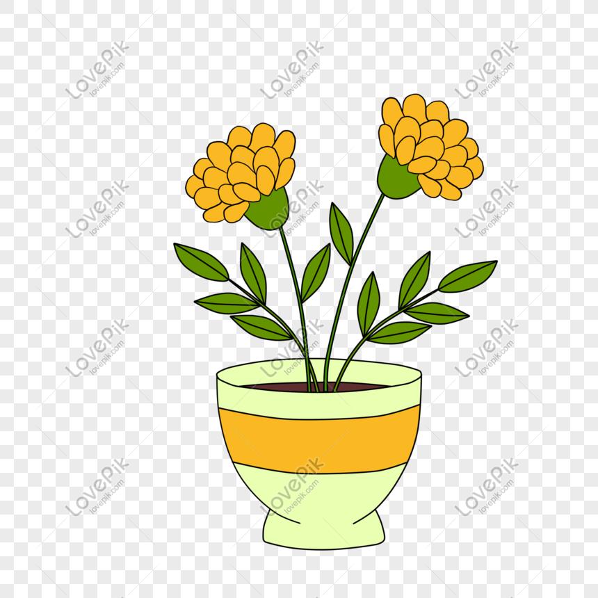 Ilustrasi Tanaman Hijau Pot Bunga Tangan Digambar Png Grafik Gambar Unduh Gratis Lovepik