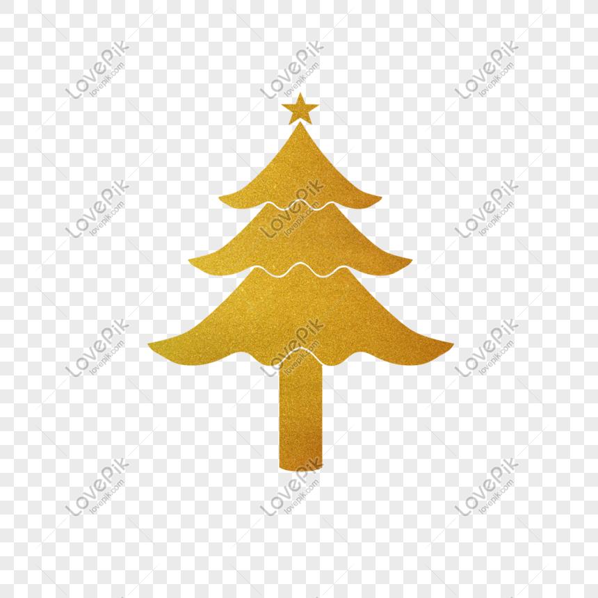 pohon natal bubuk emas dekoratif