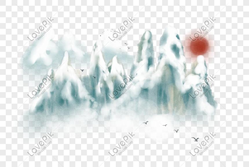 Hand Drawn Ink Winter Sunset Illustration Png Image Picture Free Download 611577589 Lovepik Com