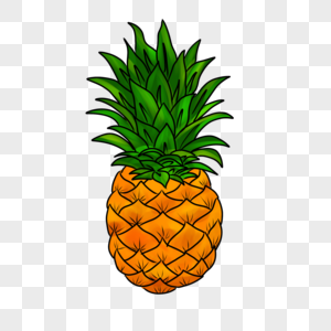 Cartoon pineapple vector download png