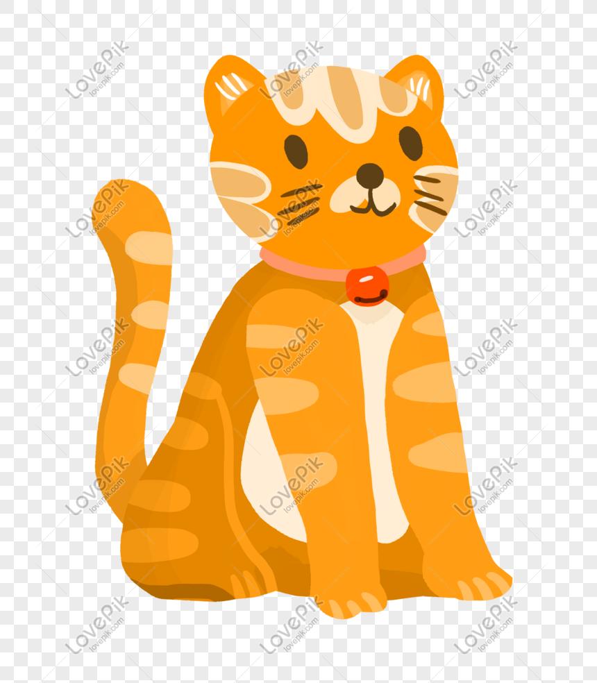 phim hoạt hình mèo con màu vàng mềm dễ thương