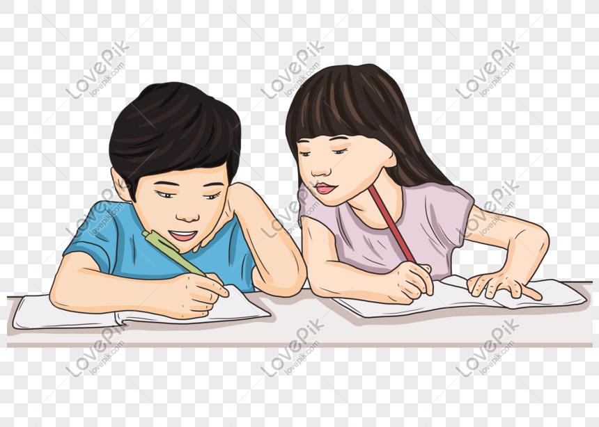 kartun anak anak belajar kartun tangan ditarik PNG grafik ...