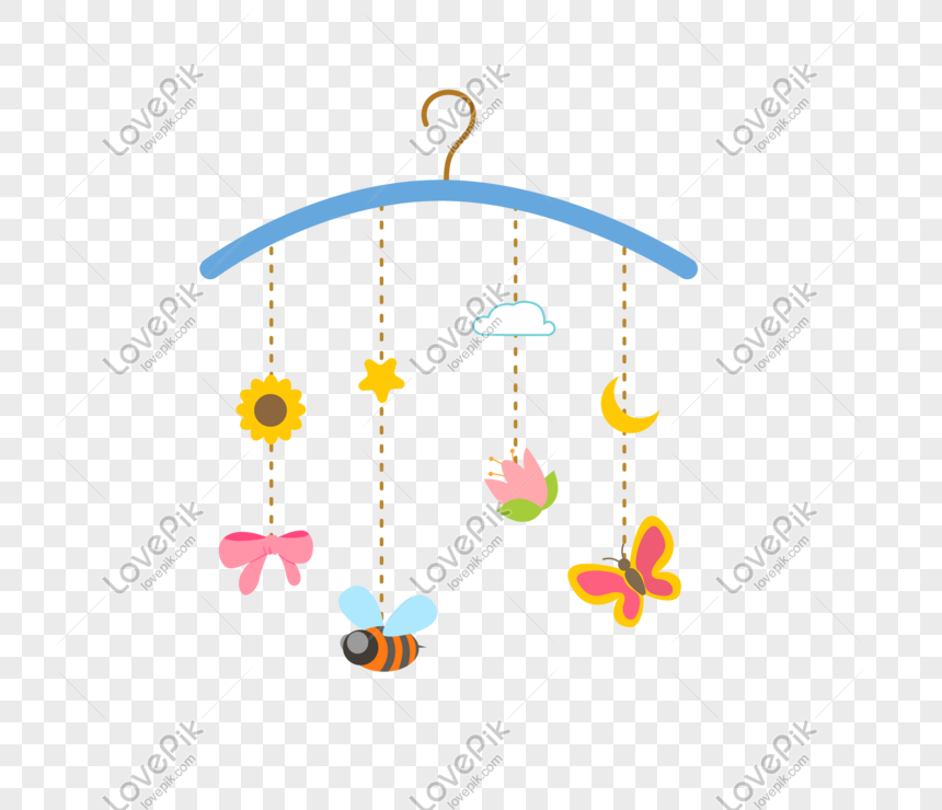 cartoon trinkets wind chime illustration png