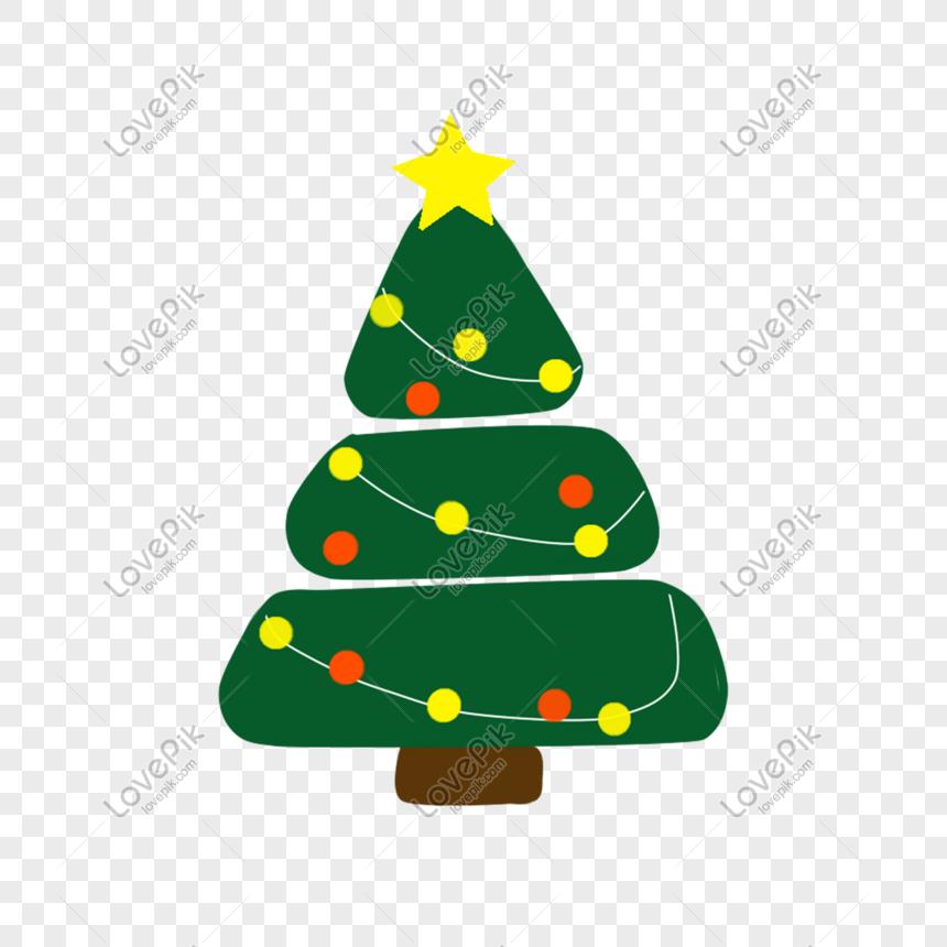 Christmas Tree Stars Lights Christmas Eve Png Larawan Numero Ng