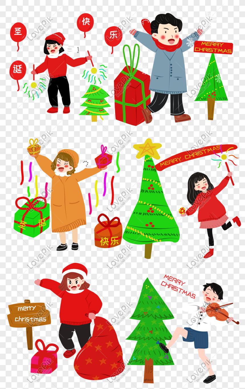 Vektor Kartun Lucu Hadiah Natal PNG Grafik Gambar Unduh