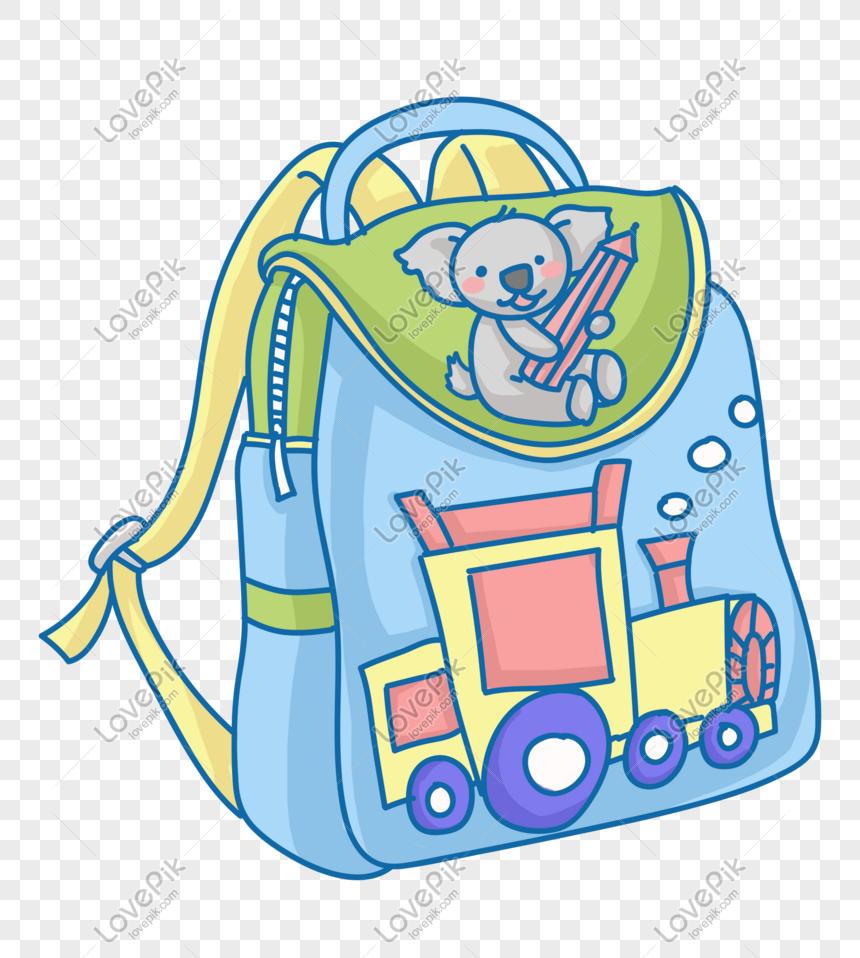 Hand Drawn Cartoon Children S School Bag Illustration Png
