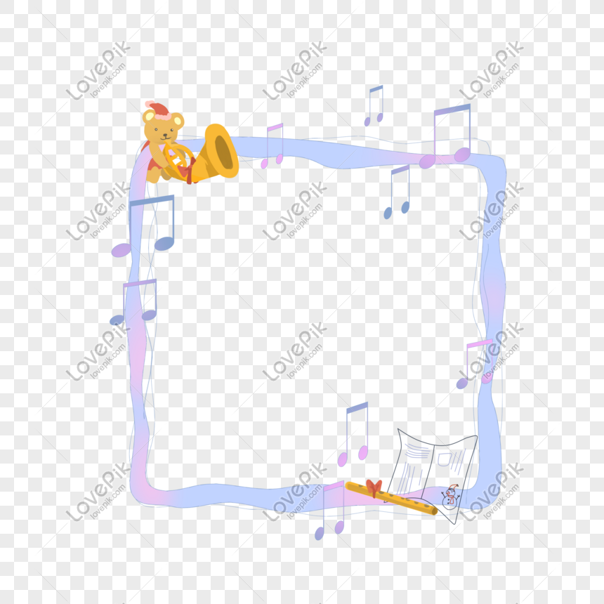Christmas Music Notes.Christmas Music Note Border Illustration Png Image Picture