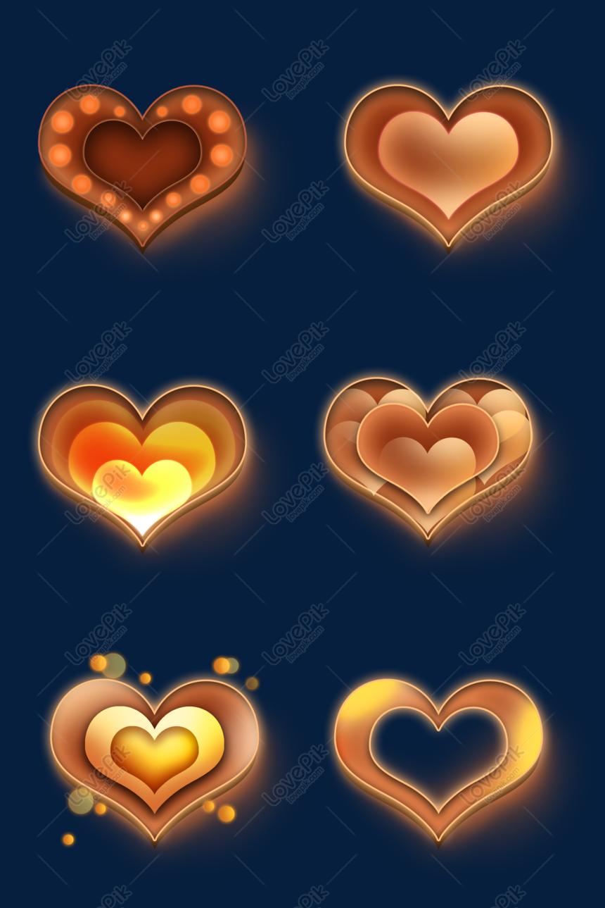 Valentines day valentines day heart shaped glowing button