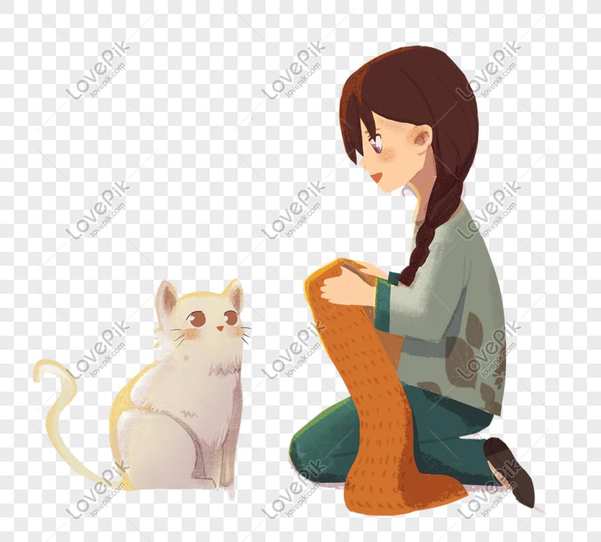 Gambar Ilustrasi Tema Hewan Kesayangan Kucing Ilustrasi Tema Kesayangan Saya Dan Hewan Peliharaan Png Grafik Gambar Unduh Gratis Lovepik