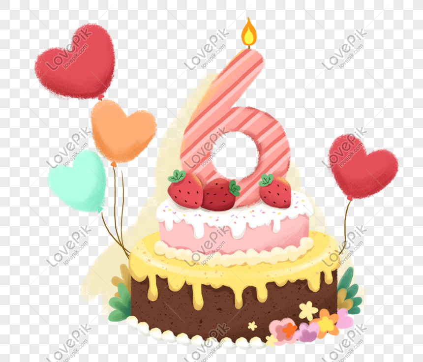 Happy Birthday Cake Theme Cartoon Illustration Png Image Picture Free Download 611591439 Lovepik Com