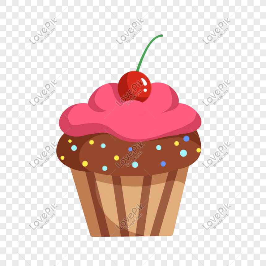 cherry cake hand drawn illustration png