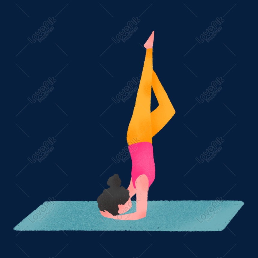 Hand Drawn Cute Yoga Pose Png Image Picture Free Download 611597053 Lovepik Com