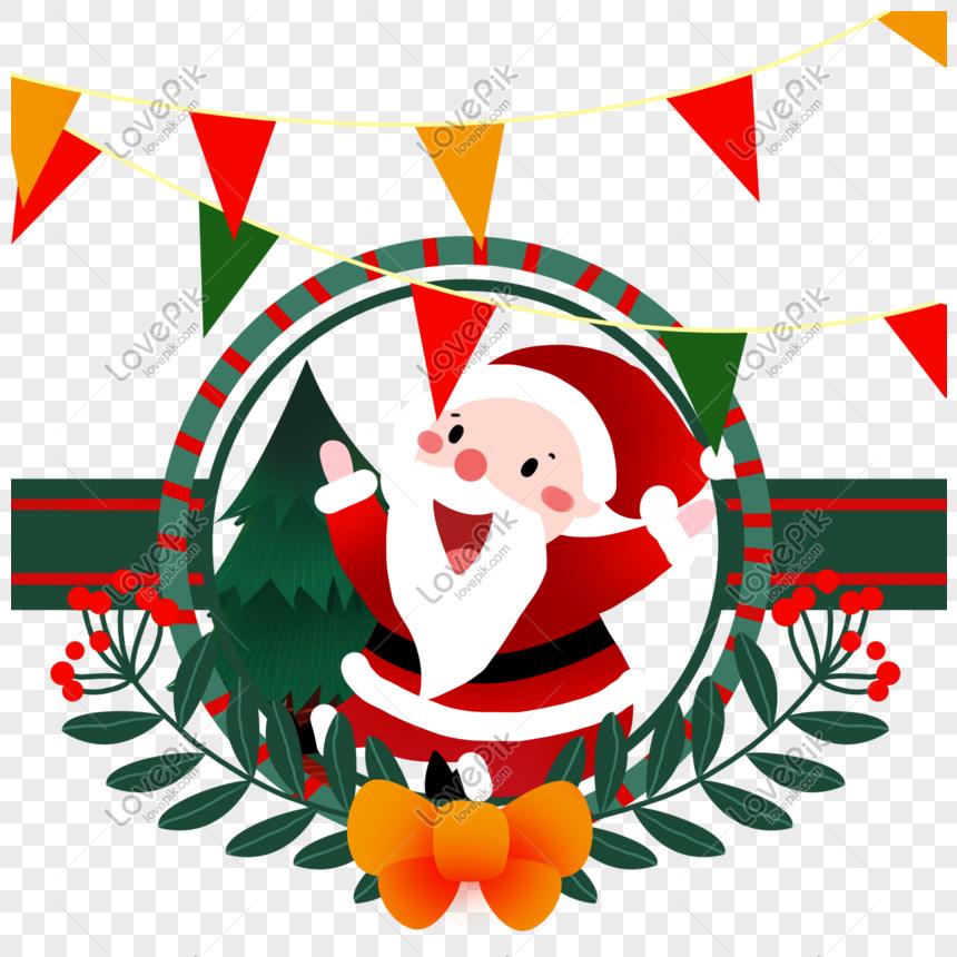 Bonito Dos Desenhos Animados Natal Papai Noel Imagem