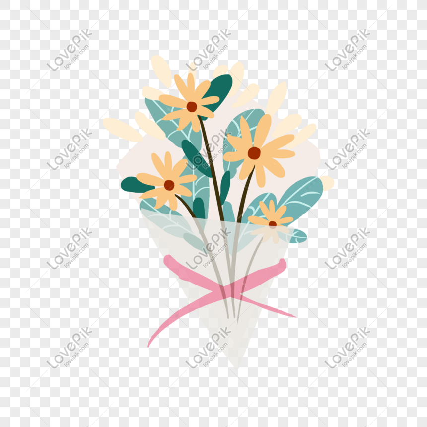 hand drawn flower bouquet illustration png