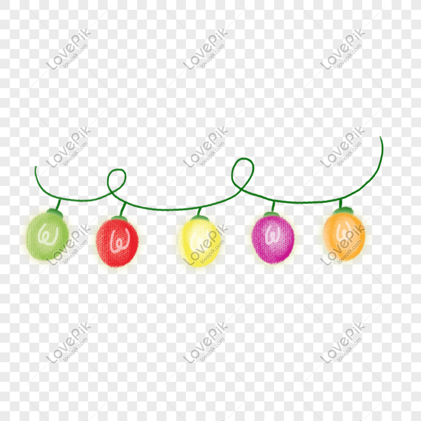 Christmas Bulb Png.Colored Christmas Light Bulb Illustration Png Image Picture
