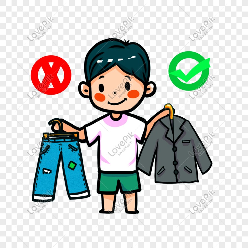 Cartoon Boy Chooses Interview Dressing Png Png Image Picture Free Download 611625111 Lovepik Com