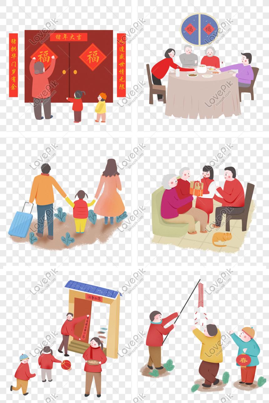 Tahun Baru Cina Spring Festival Syair Lukisan Tangan Ilustrasi K Gambar Unduh Gratis Imej 611631013 Format Psd My Lovepik Com